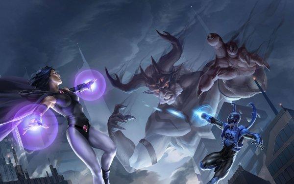 Movie Justice League vs. Teen Titans Teen Titans Raven Trigon Blue Beetle DC Comics Jaime Reyes HD Wallpaper   Background Image