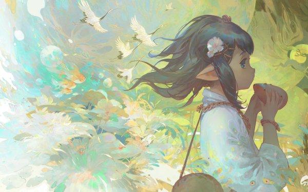 Anime Girl Elf HD Wallpaper | Background Image