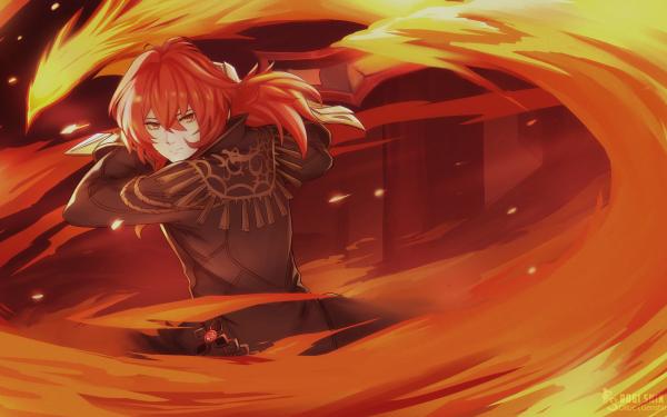 Video Game Genshin Impact Diluc HD Wallpaper | Background Image