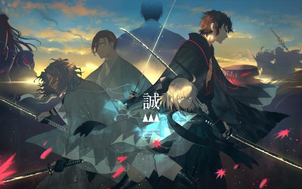 Anime Fate/Grand Order Fate Series Souji Okita Hijikata Toshizō Saitou Hajime HD Wallpaper | Background Image