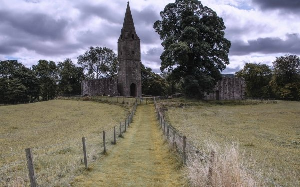 Religious Monastery Church Nature Fence HD Wallpaper | Background Image