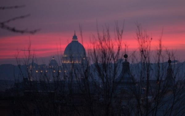 Religious St. Peter's Basilica Basilicas  Evening Rome Italy Vatican HD Wallpaper   Background Image