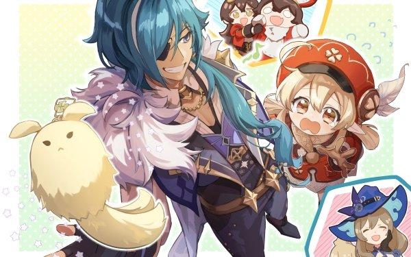 Video Game Genshin Impact Klee Amber Lisa Kaeya HD Wallpaper | Background Image