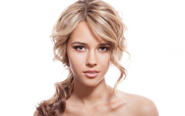 Women Blonde Portrait Face Model HD Wallpaper   Background Image