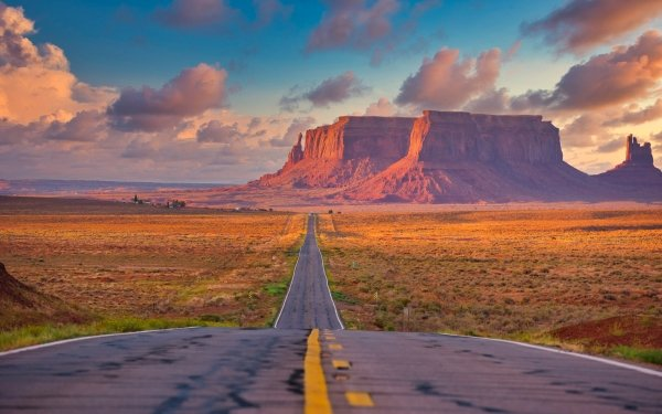 Man Made Road Desert Arizona Monument Valley HD Wallpaper | Background Image