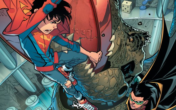 Comics Super-Sons Damian Wayne Superboy Jon Kent Robin DC Comics HD Wallpaper   Background Image