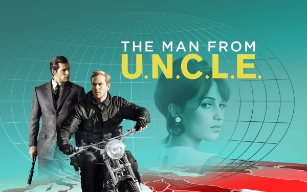 Movie The Man from U.N.C.L.E. Armie Hammer Henry Cavill Alicia Vikander HD Wallpaper | Background Image