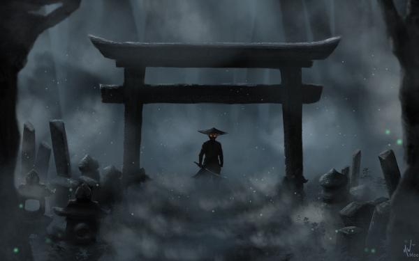 Video Game Ghost of Tsushima Jin Sakai Torii HD Wallpaper   Background Image