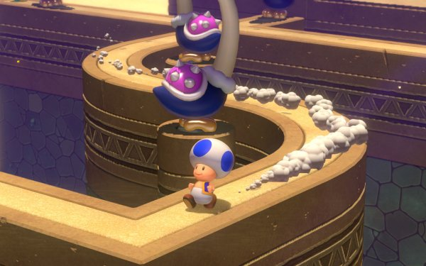 Video Game Super Mario 3D World + Bowser's Fury Toad HD Wallpaper   Background Image