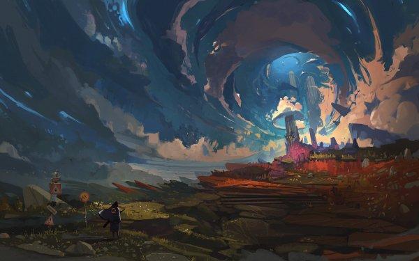 Fantasy City HD Wallpaper | Background Image