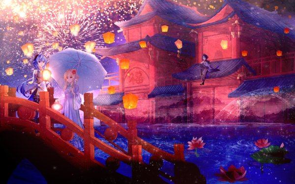 Video Game Genshin Impact Ganyu Lumine Xiao HD Wallpaper | Background Image