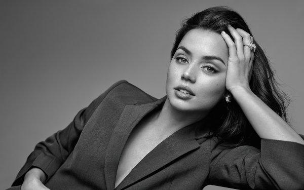 Celebrity Ana de Armas Actresses Black & White Actress Cuban HD Wallpaper | Background Image