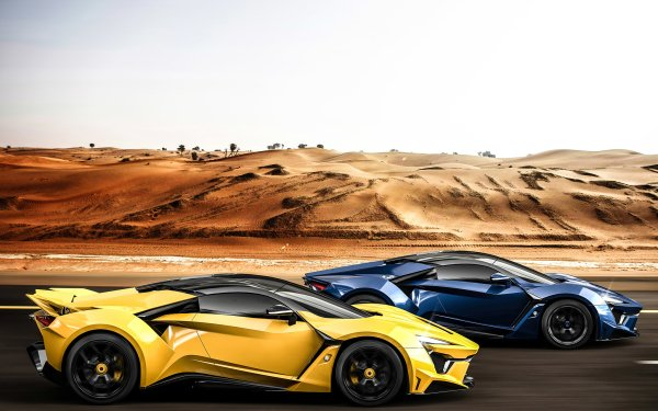 Vehicles Fenyr SuperSport Car Yellow Car Blue Car Sport Car HD Wallpaper | Background Image