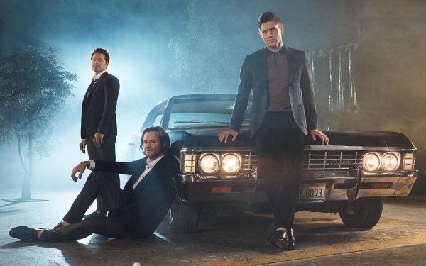TV Show Supernatural Jensen Ackles Dean Winchester Jared Padalecki Sam Winchester Misha Collins Castiel HD Wallpaper | Background Image