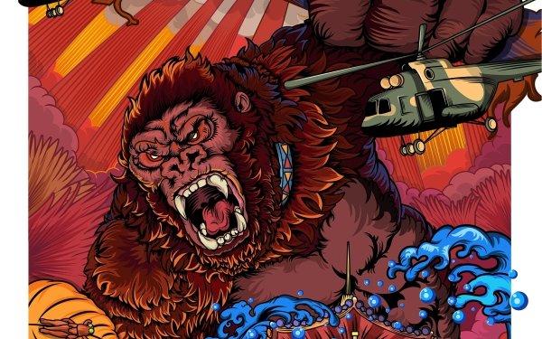 Movie Godzilla vs Kong Godzilla vs. Kong King Kong HD Wallpaper | Background Image