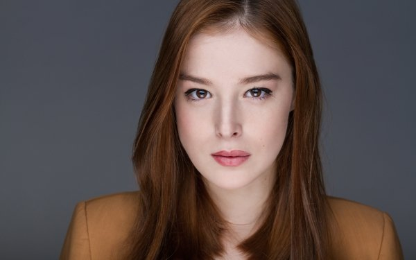 Celebrity Milena Radulovich Woman Model Brown Eyes Redhead HD Wallpaper   Background Image