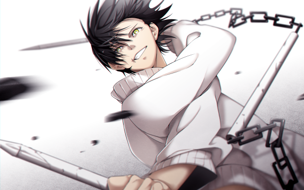 Anime Jujutsu Kaisen Toji Fushiguro Black Hair Yellow Eyes HD Wallpaper | Background Image