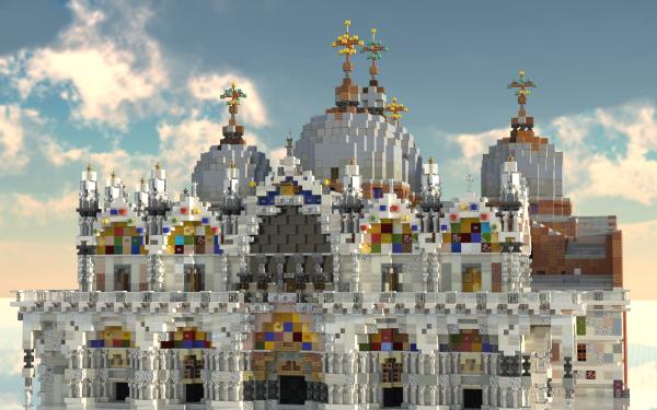 Video Game Minecraft Basilica Venice HD Wallpaper   Background Image