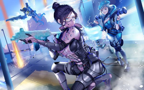 Video Game Apex Legends Wattson Pathfinder Wraith HD Wallpaper | Background Image