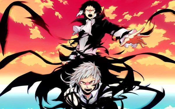 Anime Bungou Stray Dogs Ryūnosuke Akutagawa Atsushi Nakajima HD Wallpaper | Background Image