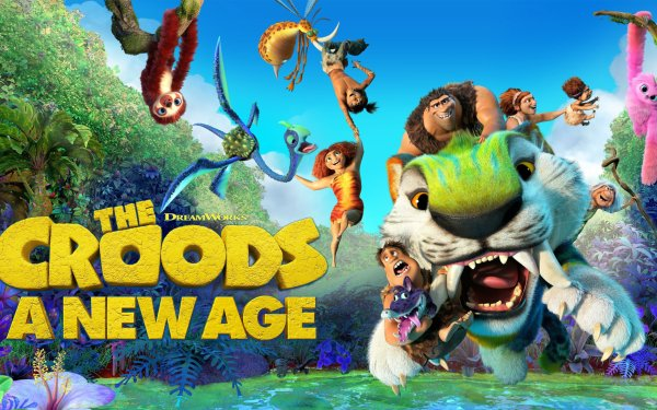 Movie The Croods: A New Age Eep Guy Thunk Grug Sandy Ugga HD Wallpaper | Background Image