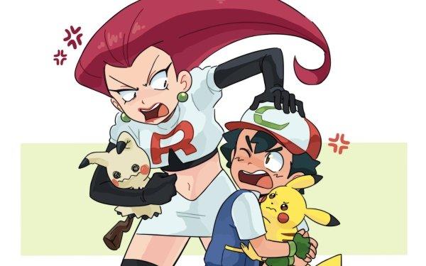 Anime Pokémon Ash Ketchum Jessie Pikachu Fondo de pantalla HD | Fondo de Escritorio