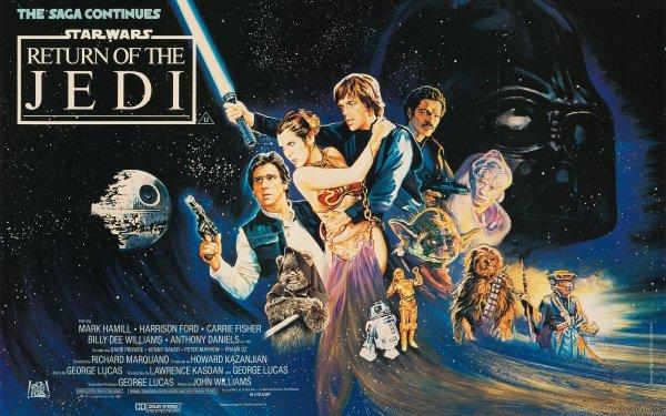 Film Star Wars, épisode VI : Le Retour du Jedi Star Wars Han Solo Princess Leia Luke Skywalker Yoda Chewbacca C-3PO R2-D2 Fond d'écran HD | Image