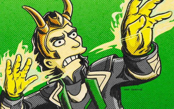 Movie The Good, The Bart, and The Loki Loki HD Wallpaper | Background Image