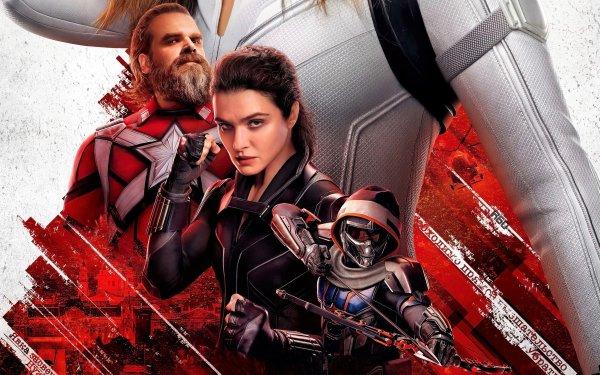 Movie Black Widow Taskmaster Melina Vostokoff David Harbour Red Guardian Rachel Weisz HD Wallpaper | Background Image
