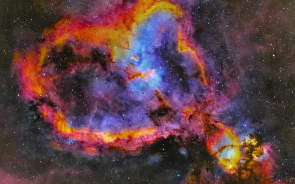 Sci Fi Nebula Heart Nebula HD Wallpaper   Background Image