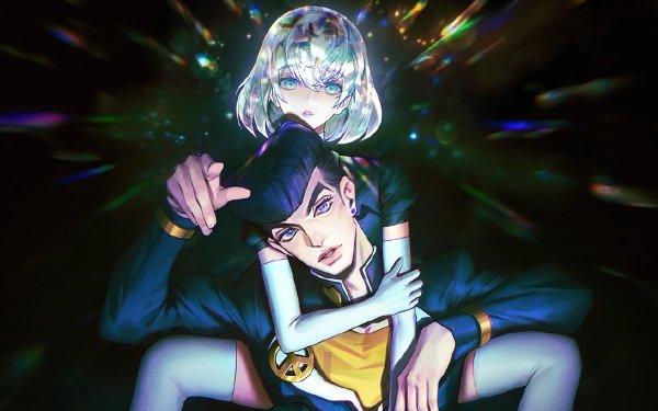 Anime Crossover Josuke Higashikata Houseki no Kuni Diamond Jojo's Bizarre Adventure HD Wallpaper | Background Image