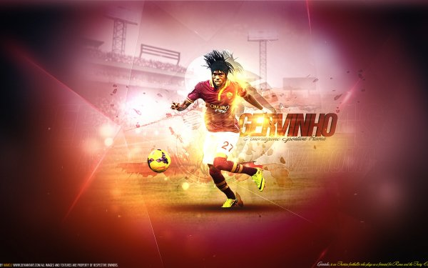 Sports Gervinho Soccer Player A.S. Roma HD Wallpaper   Background Image