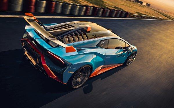 Vehicles Lamborghini Huracán STO Lamborghini Blue Car Supercar HD Wallpaper   Background Image