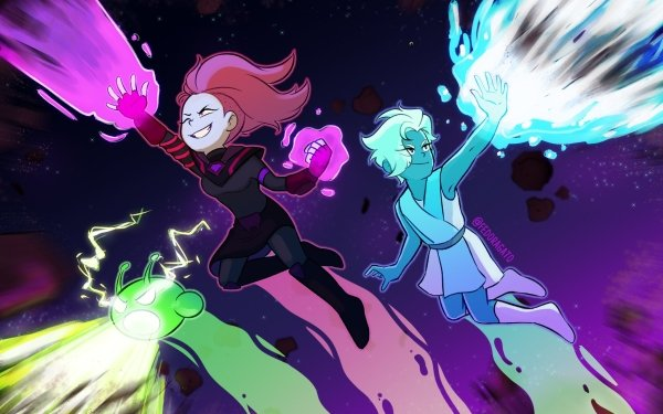 TV Show Final Space Ash Graven Evra Mooncake HD Wallpaper | Background Image