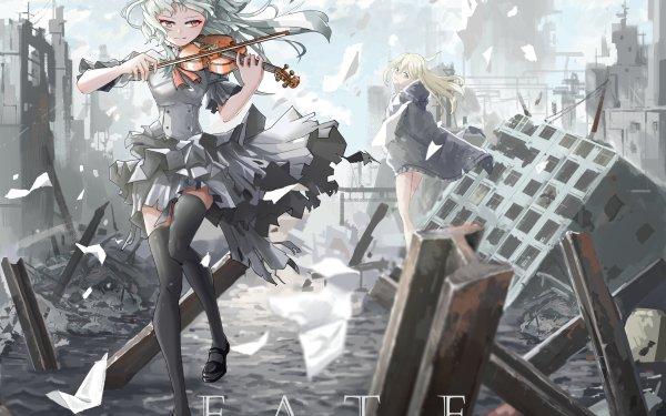 Anime Girl Post Apocalyptic HD Wallpaper | Background Image