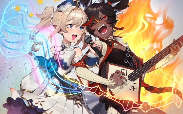 Video Game Genshin Impact Barbara Xinyan HD Wallpaper   Background Image