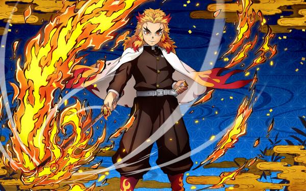 Video Game Demon Slayer -Kimetsu no Yaiba- The Hinokami Chronicles Kyojuro Rengoku HD Wallpaper | Background Image