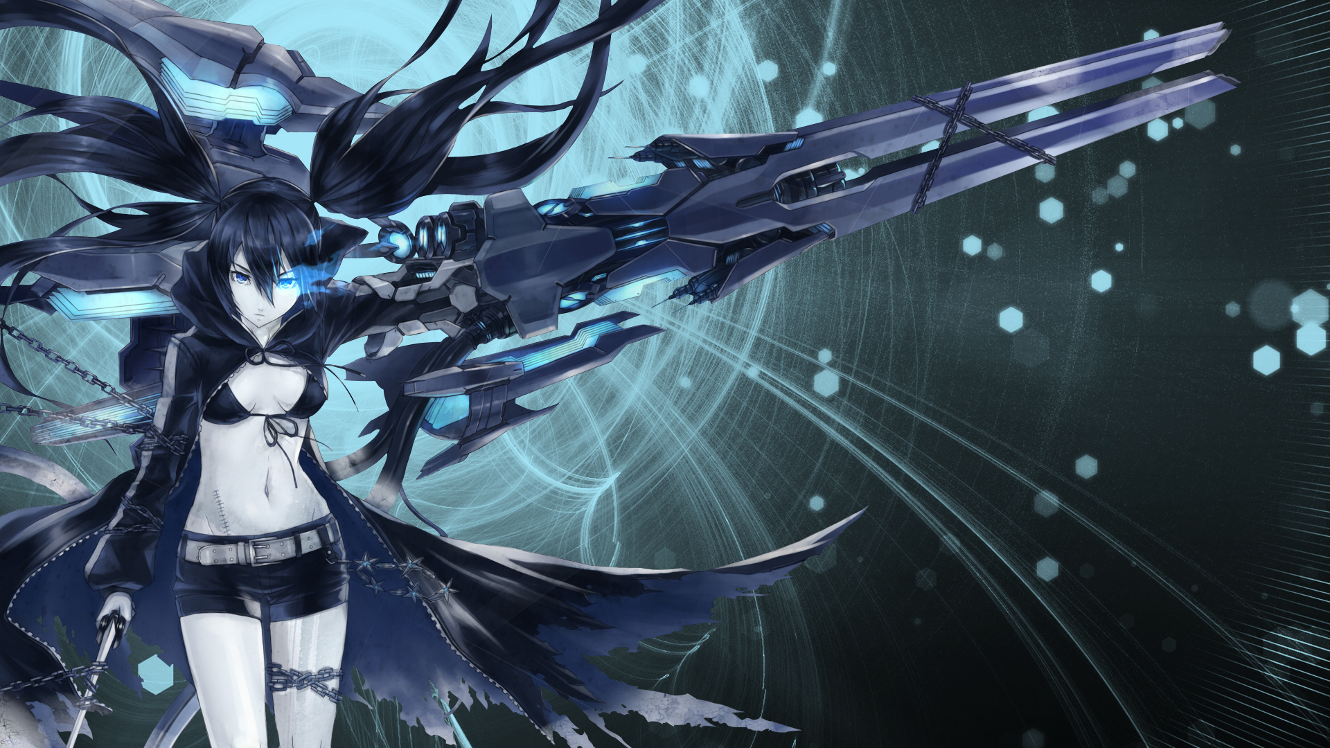 Black Rock Shooter Full HD Wallpaper And Background Image