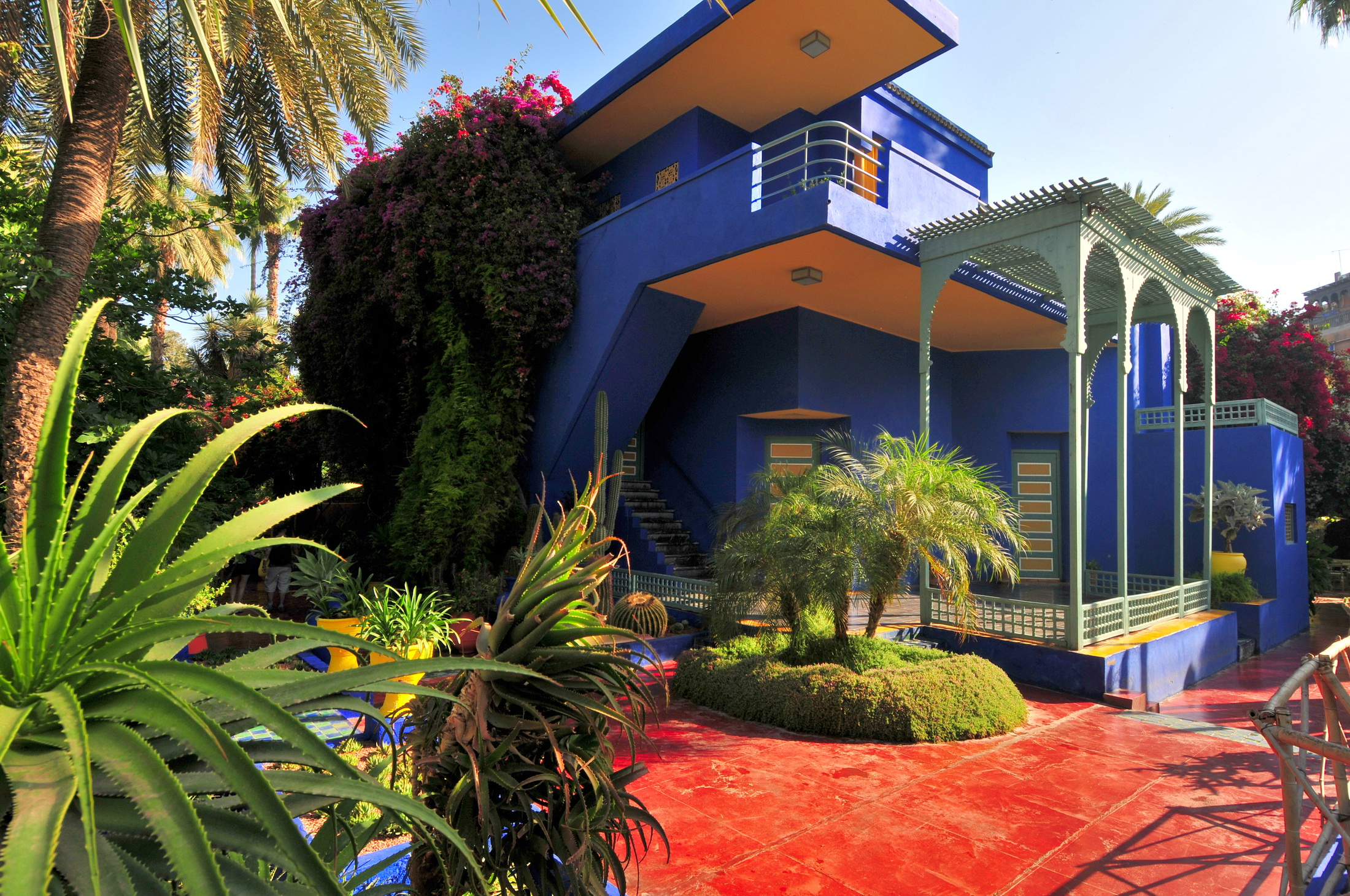 Morocco Marrakech Jardin Majorelle Hd Wallpaper Background Image