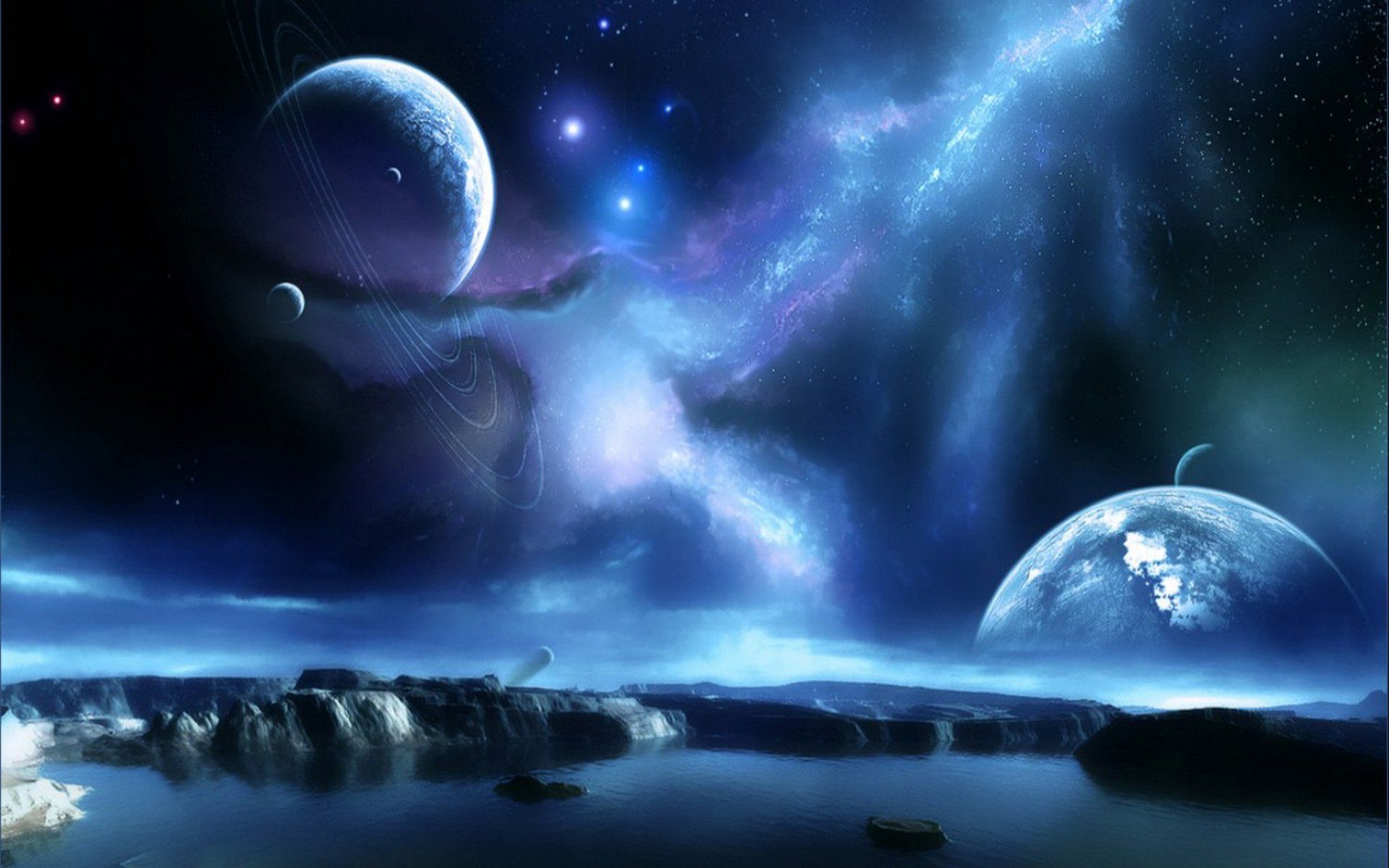 Space Wallpapers High Resolution: Planet Rise Full HD Wallpaper And Background Image