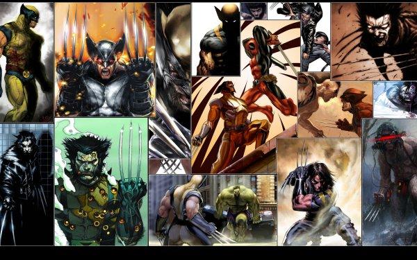 Comics Marvel Comics Wolverine Deadpool Hulk Logan James Howlett Daken Lady Deathstrike HD Wallpaper | Background Image
