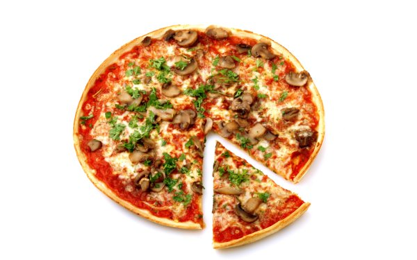 Food Pizza Mushroom Lunch HD Wallpaper | Background Image