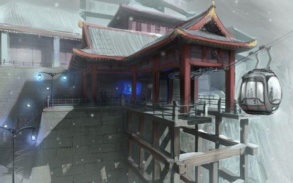 Artistic Building Buildings Oriental Asian HD Wallpaper | Background Image