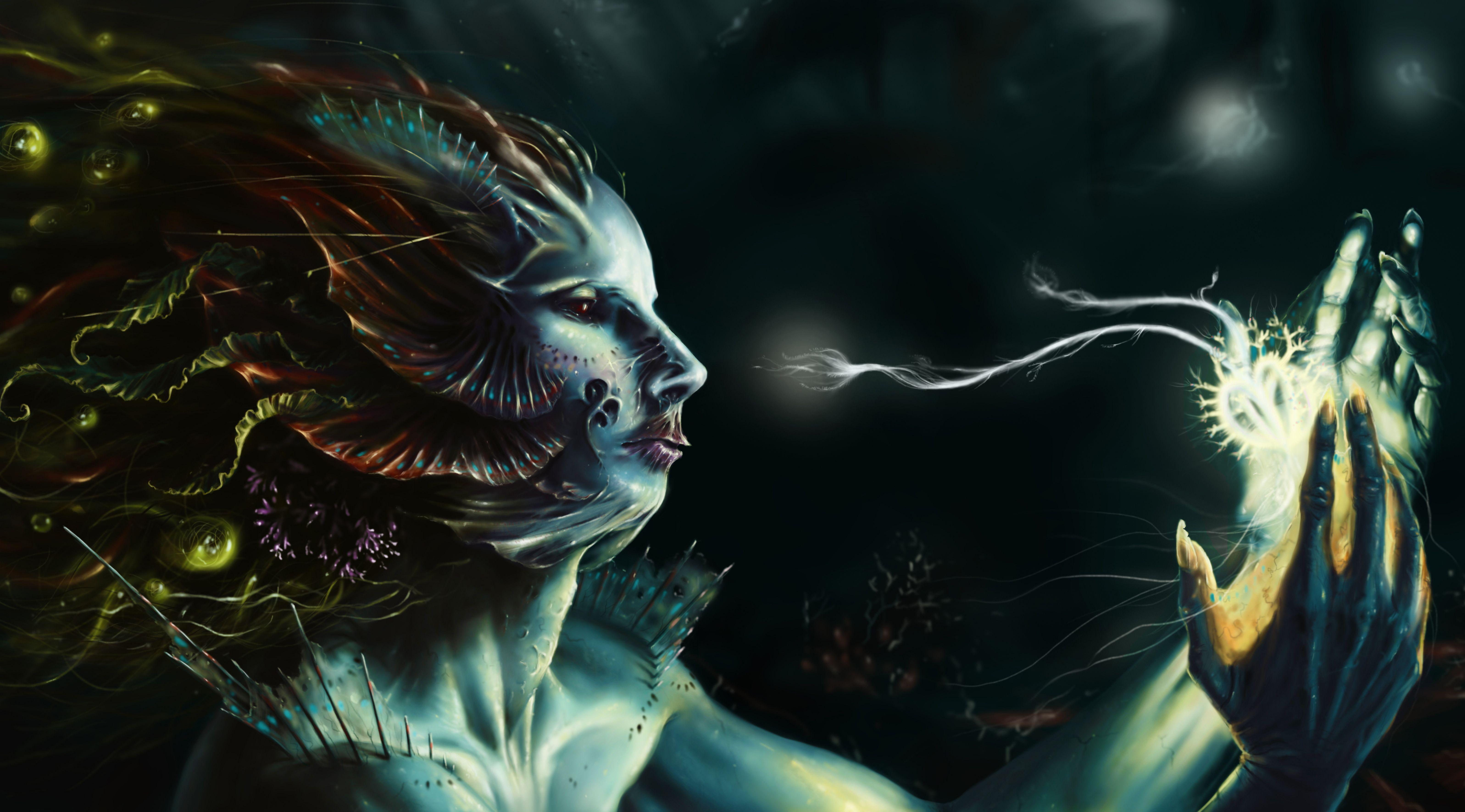 Dark Mermaid Art http://morgainelefee.d...