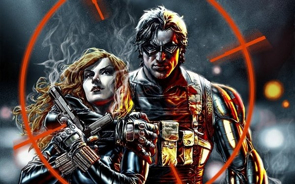 Comics Winter Soldier Black Widow Captain America HD Wallpaper | Background Image