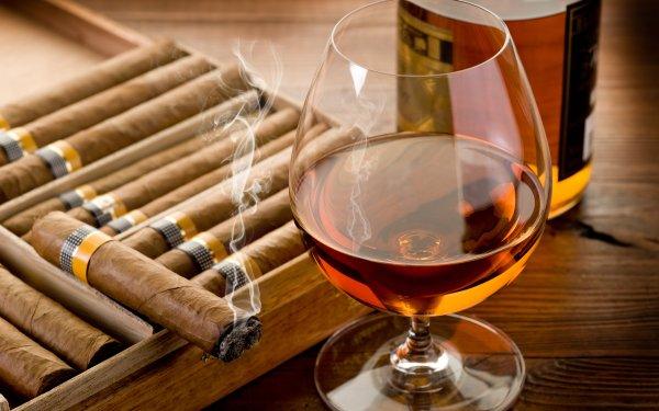 Nourriture Liquor Alcohol Verre Boisson Cigar Fond d'écran HD | Arrière-Plan