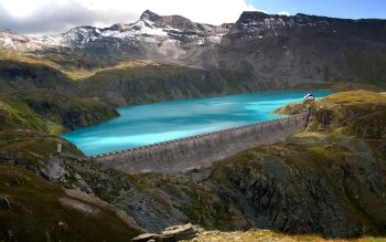 Man Made Dam Earth Scenery Wilderness HD Wallpaper | Background Image