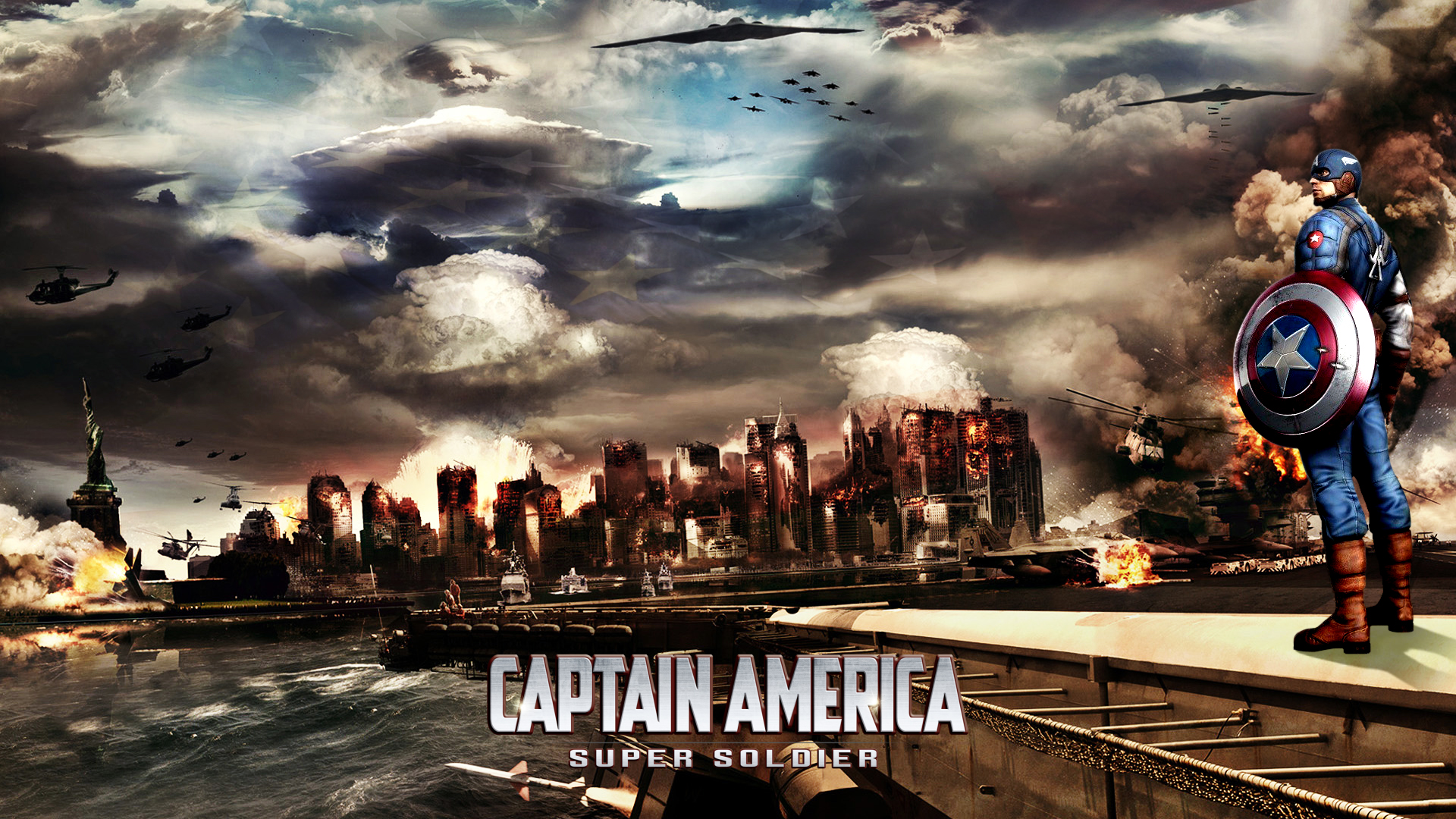 American Hd Wallpaper Widescreen 1920x1080: Super Solider HD Wallpaper