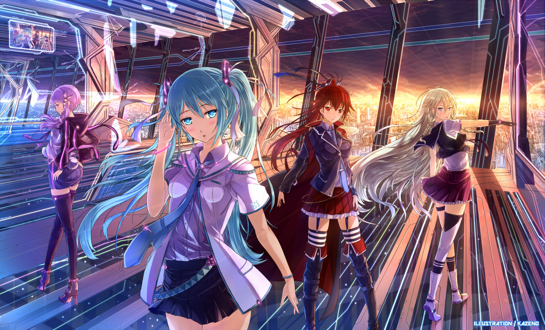 Anime - Vocaloid  - Hatsune - Miku - Cul - Ia - Yuzuki - Yukari Papel de Parede