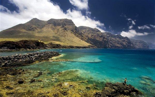 Earth Coastline Landscape Scenic Tropical Cloud Sky Reef Island HD Wallpaper   Background Image